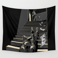 film Wall Tapestries featuring Film noir by wonman kim