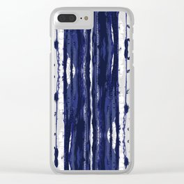 Hand Drawn Ikat Stripe Clear iPhone Case
