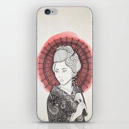 Japanese flag and Geisha iPhone Skin