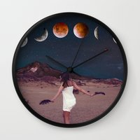 planets Wall Clocks featuring Planets by Cs025
