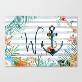 W-Anchor Canvas Print