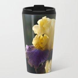 Purple and Yellow Springtime Iris Travel Mug
