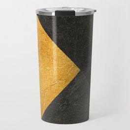 Yellow and Grey - Triangle Travel Mug