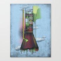melbourne Canvas Prints featuring Melbourne by Mel Muraca