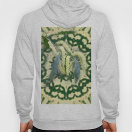 Wattle on green and yellow kaleidoscope Hoody