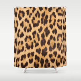 primitive trendy stylish fashionable safari animal leopard Shower Curtain