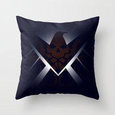 Hidden HYDRA – S.H.I.E.L.D. Logo Sans Wording Throw Pillow