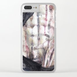 Bodily Fluids II Clear iPhone Case