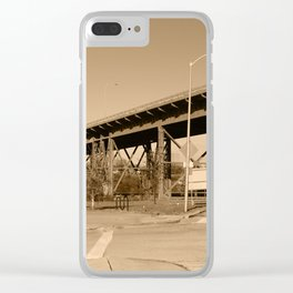 35th Street Viaduct Clear iPhone Case