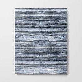 Watercolor Shibori Zebra Stripes Metal Print