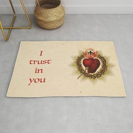 Sacred Heart I trust in you Rug
