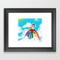 The Sky Drive Framed Art Print