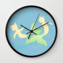 Purrrmaids Wall Clock