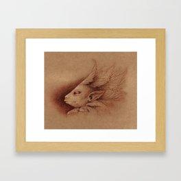 Leaf Man Framed Art Print