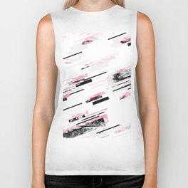 love stripes / black & pink Biker Tank