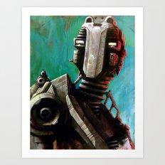 Twin #1 Robot Art Print
