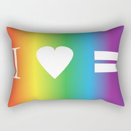 I heart Equality Rectangular Pillow