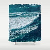 waves Shower Curtains featuring Waves  by StayWild