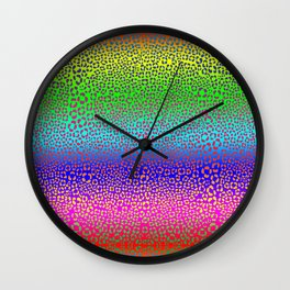 Wild Thing Rainbow Leopard Print Wall Clock