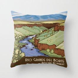 Vintage poster - Rio Grande Del Norte Throw Pillow