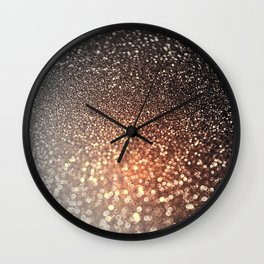 Tortilla brown Glitter effect - Sparkle and Glamour Wall Clock