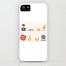 Poker, Cash & Partying - Nevada Day iPhone Case
