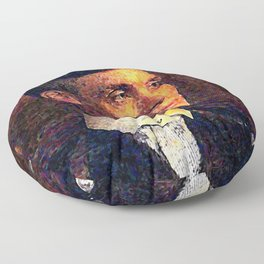 Tommy Shelby (Peakyblinders) portrait oil paint Floor Pillow