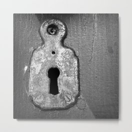 Mansion Lock Metal Print
