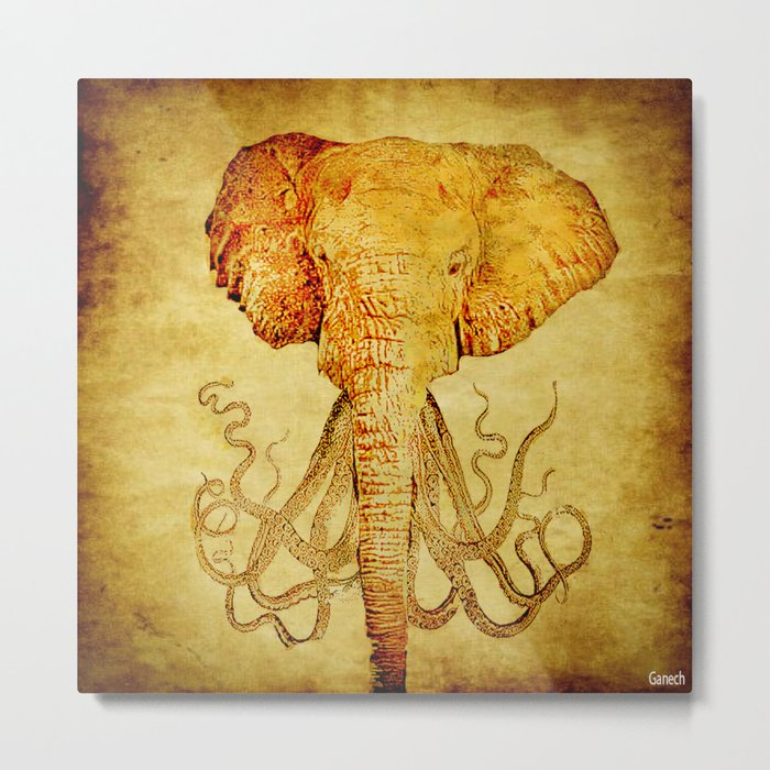 The elephant who wanted to be an octopus Metal Print