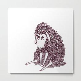 Sheepie Metal Print