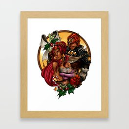 Ganondorf & Nabooru Xmas Framed Art Print
