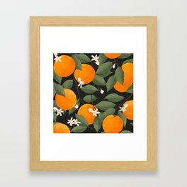 fresh citrus // dark Framed Art Print