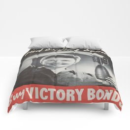 Vintage poster - Victory Bonds Comforters