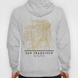 SAN FRANCISCO CALIFORNIA CITY STREET MAP ART Hoody