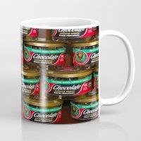 chocolate Mugs featuring chocolate by lennyfdzz