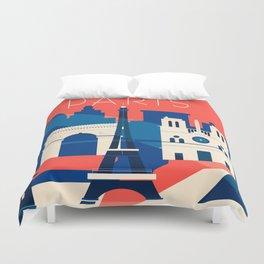 Abstract Paris Duvet Cover