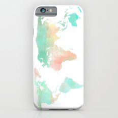 Watercolor World Map  iPhone 6s Slim Case
