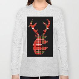 Plaid Xmas Deer Long Sleeve T-shirt