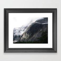 Mountain landscape #norway Framed Art Print