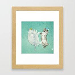 Fur Kitty Framed Art Print