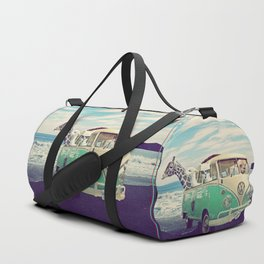 NEVER STOP EXPLORING THE BEACH Duffle Bag
