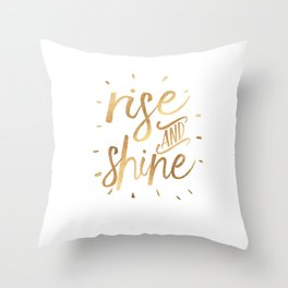 RISE AND SHINE Sign, Bedroom Decor,Home Decor,Living Room Decor,Motivational Quote,Rise And Grind,Qu Throw Pillow