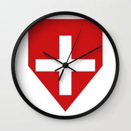 Swiss flag Wall Clock
