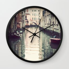 Boats in Venice Wall Clock