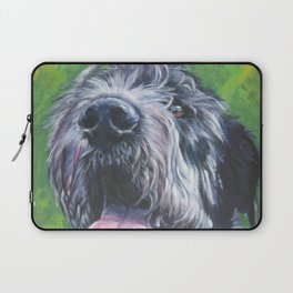 Irish Wofhound Dog Portrait Fine Art from an original painting by L.A.Shepard Laptop Sleeve