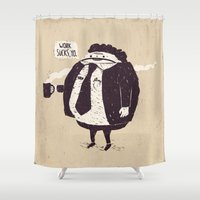 love quotes Shower Curtains featuring Quotes by Ronan Lynam