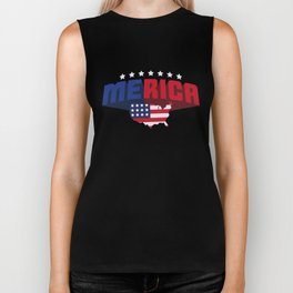 4th Of July Independence Day Merica Biker Tank