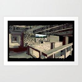 69 - IIMB stonework Art Print