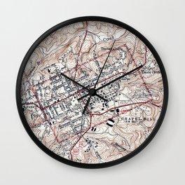 Vintage Map of Chapel Hill North Carolina (1946) Wall Clock