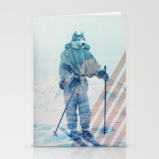 Husky Exploration Stationery Cards